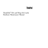 Instrukcja serwisowa Lenovo ThinkPad T61