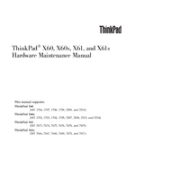 Service Manual Lenovo ThinkPad X60