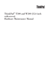Service Manual Lenovo ThinkPad W500