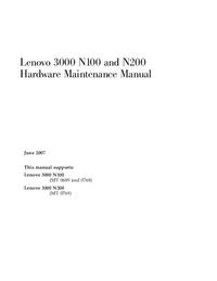 Manuale di servizio Lenovo 3000 N100