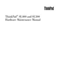 Servicehandboek Lenovo ThinkPad SL500