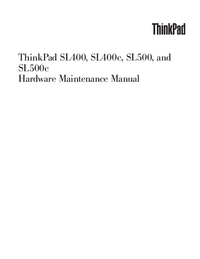 Service Manual Lenovo ThinkPad SL400c