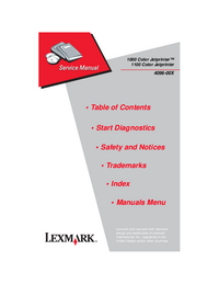 Manual de servicio Lexmark 1000 Color Jetprinter