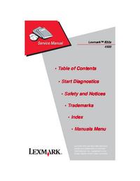 Servicehandboek Lexmark E320