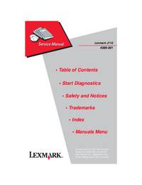 Руководство по техническому обслуживанию Lexmark J110