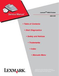 manuel de réparation Lexmark Optra W820