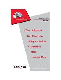 Руководство по техническому обслуживанию Lexmark T52x