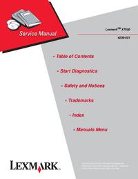 manuel de réparation Lexmark X7500
