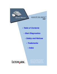 Manual de serviço Lexmark Z31 Color Jetprinter 4099