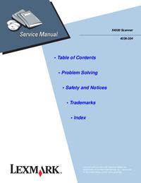 Manual de serviço Lexmark X4500 4036-304
