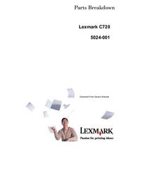 Lista de parte Lexmark C720 5024-001