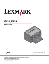 Bedienungsanleitung Lexmark E120n