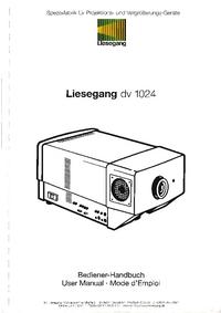 Manual del usuario Liesegang DV 1024