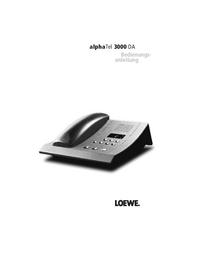 Manual do Usuário Loewe alphaTel 3000 DA