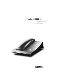 User Manual Loewe alphaTel 3000 DE