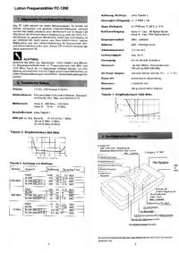 Scheda tecnica Lutron FC-1200