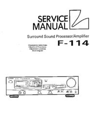 Manual de servicio Luxman F-114