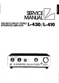 Руководство по техническому обслуживанию Luxman L-430