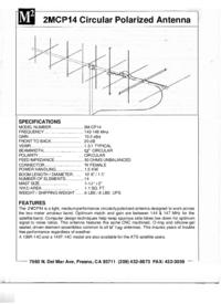 Manual do Usuário M2 2MCP14