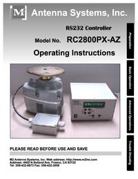 Manual del usuario, Diagrama cirquit M2 RC2800PX-AZ
