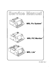 Manual de servicio MRL MRL Pic Monitor