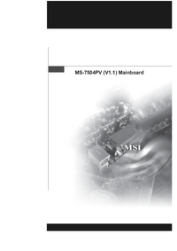 Manual del usuario MSI MS-7504PV (V1.1)