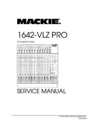 Manual de serviço Mackie 1642-VLZ PRO