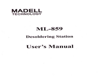 Manuale d'uso Madell ML-859