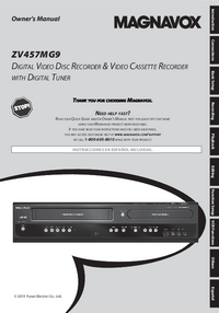 User Manual Magnavox ZV457MG9