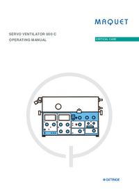 User Manual Maquet SERVO VENTILATOR 900 C