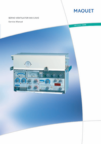 Service Manual Maquet Servo Ventilator 900 D