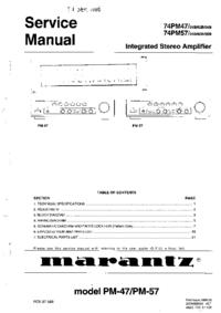 Servicehandboek Marantz 74PM57