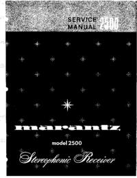 Manual de serviço Marantz 2500