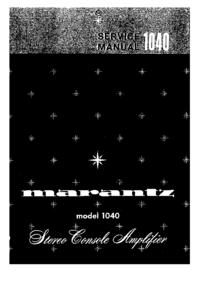 Manuale di servizio Marantz 1040