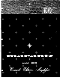 Service Manual Marantz model 1070