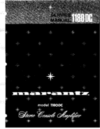 Servicehandboek Marantz model 1180DC