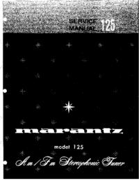 Manual de servicio Marantz model 125