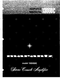 Service Manual Marantz model 1300DC