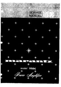 Service Manual Marantz model 170DC