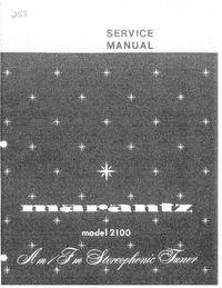 Instrukcja serwisowa Marantz model 2100