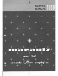 Manual de servicio Marantz 1060
