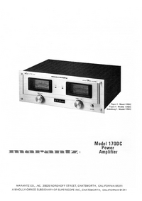 User Manual Marantz 170DC