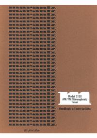 Manual del usuario Marantz 2130
