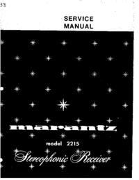 Руководство по техническому обслуживанию Marantz 2215