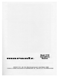 Manual del usuario Marantz 2230