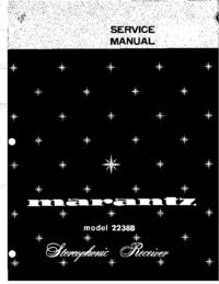 Руководство по техническому обслуживанию Marantz 2238B