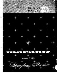Manual de serviço Marantz 2275