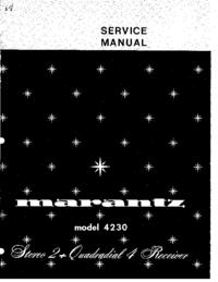 Serviceanleitung Marantz 4230