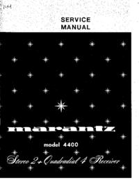 Instrukcja serwisowa Marantz 4400