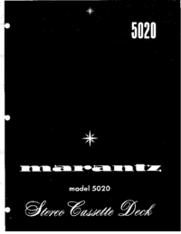 Servicehandboek Marantz 5020